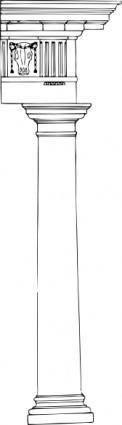 free vector Doric Column clip art