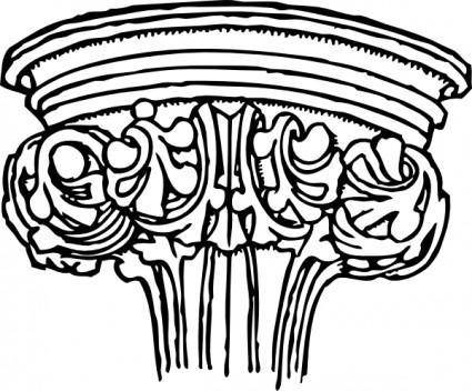 Early English Gothic Capital clip art