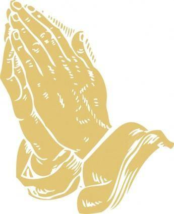 free vector Praying Hands clip art