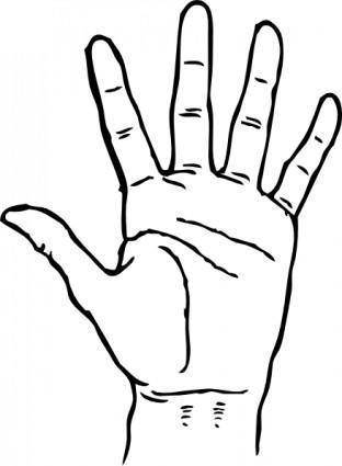 Hand Palm Facing Out clip art