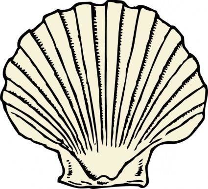 Scallop Shell clip art