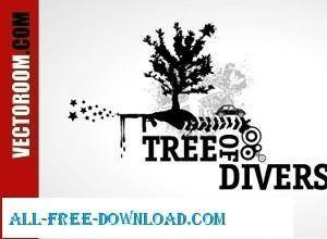 free vector Free Vector Trees