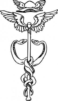 free vector Caduceus clip art
