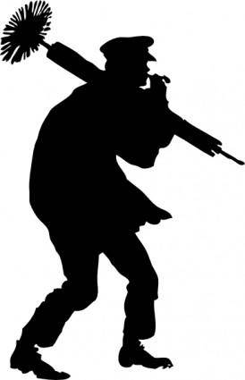 Chimney Sweep Silhoutte clip art