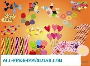 Free Vector Candies