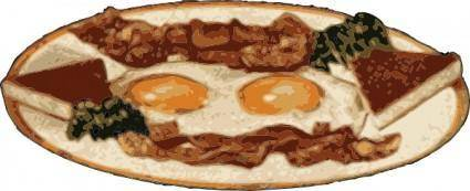 Bacon And Eggs clip art
