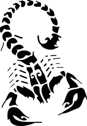 free vector Black Scorpion clip art