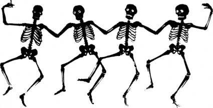 Dancing Skeletons clip art