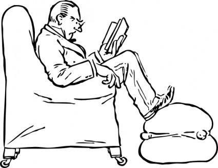 free vector Staring At A Book clip art