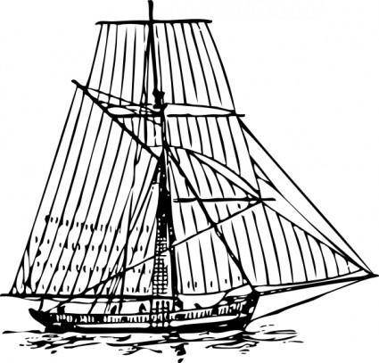 English Man Of War Cutter Circa clip art