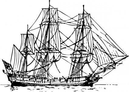 Corvette Ship clip art