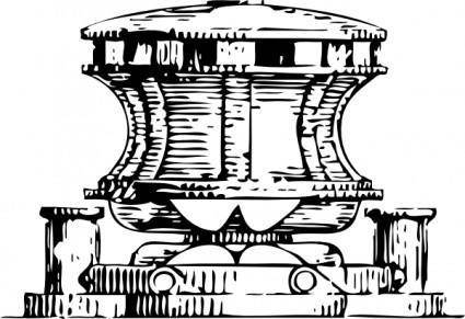 Capstan For An Anchor clip art