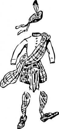 free vector Scotsman S Clothes clip art