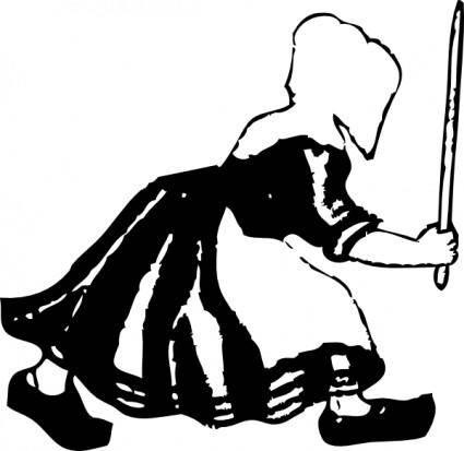 free vector Old Dutch Woman clip art