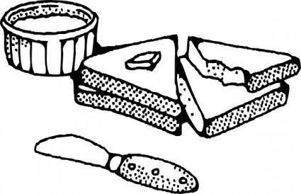 Sliced Bread With Butter clip art