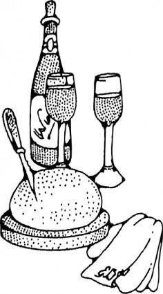 Wine And Bread clip art