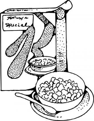 Cereal And Milk clip art