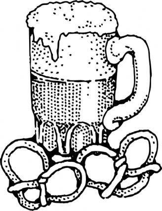 free vector Beer And Pretzels clip art