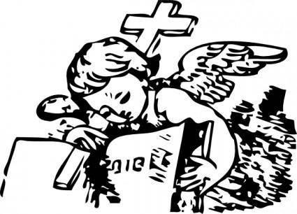 Little Angel And Bible clip art