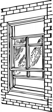 free vector Double Hung Window clip art