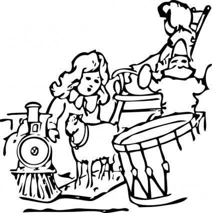 free vector Christmas Toys clip art