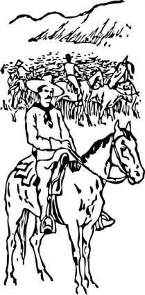 Cattle Drive clip art