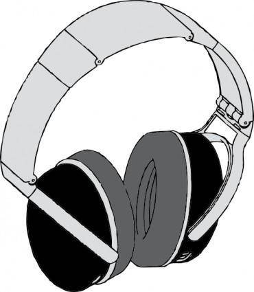 free vector Headphones clip art