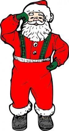 Dancing Santa clip art