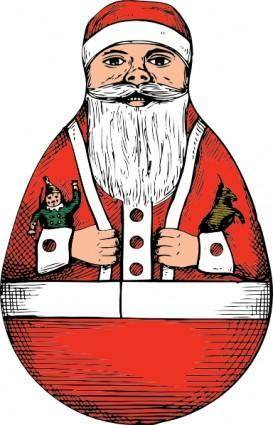 Rolly Polly Santa clip art