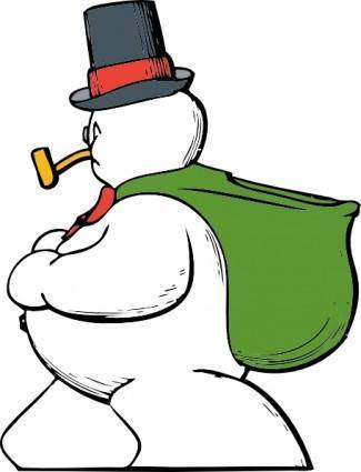 free vector Snowman Side View clip art