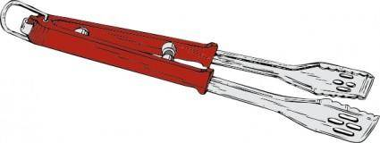 Barbeque Tongs clip art