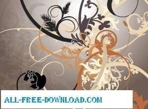 free vector Swirly Curls Vectors
