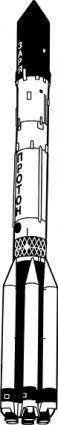 free vector Proton Rocket clip art