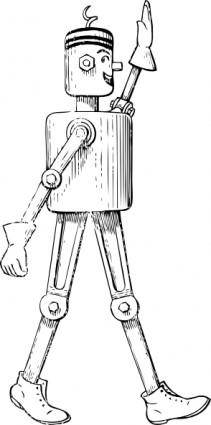 free vector Mechanical Man Side View clip art