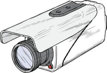 free vector Surveillance Camera clip art