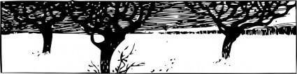 A Snowy Scene clip art