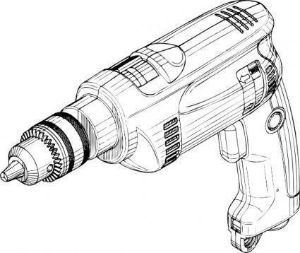 free vector Electric Drill clip art