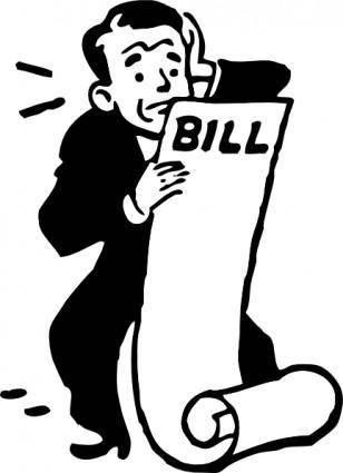 free vector Worried About A Bill clip art
