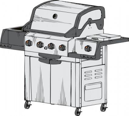 free vector Barbeque Grill clip art