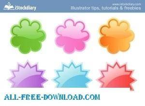 free vector Web 2.0 Badges