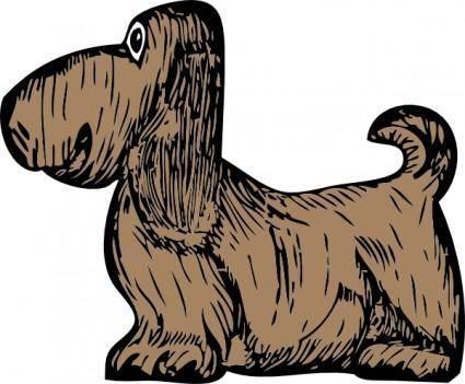 free vector Basset Hound clip art