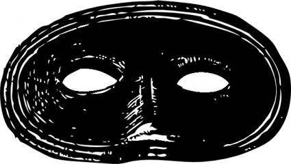 free vector Black Mask clip art