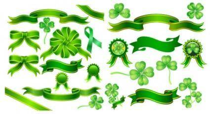 Clover ribbon vector