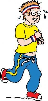 Jogging Boy clip art