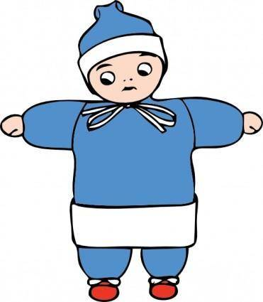 Snow Child clip art