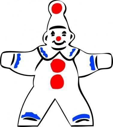 Simple Clown Figure clip art