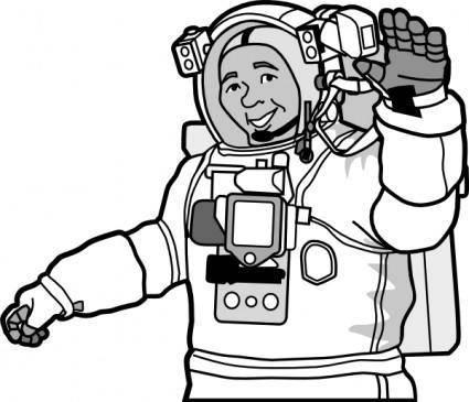 Smiling Astronaut clip art