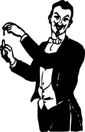 Magician Doing A Trick clip art