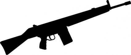 Automatic Gun Silhouette clip art