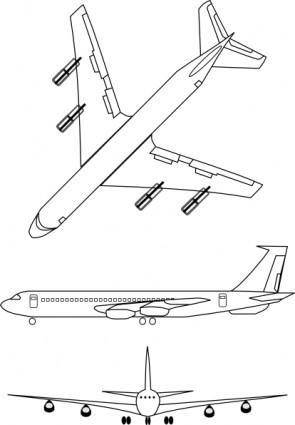 Airplane Outline clip art